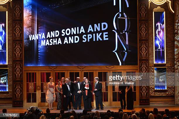 Cast and producers of 'Vanya and Sonia and Masha and Spike' accept award for Best Play onstage at The 67th Annual Tony Awards at Radio City Music...