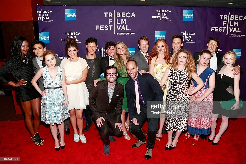 F. cast attend the screening of 'G.B.F.' during the 2013 Tribeca Film Festival at Chelsea Clearview Cinemas on April 19, 2013 in New York City.