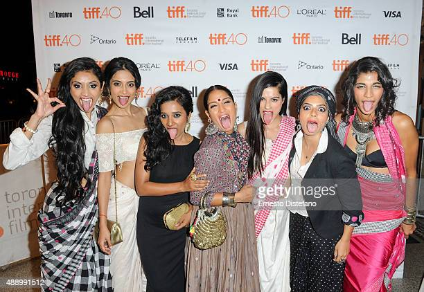 Cast attends premiere of 'Angry Indian Godesses' at the 2015 Toronto International Film Festival LR Pavleen Gujral SarahJane Dias Tannishtha...