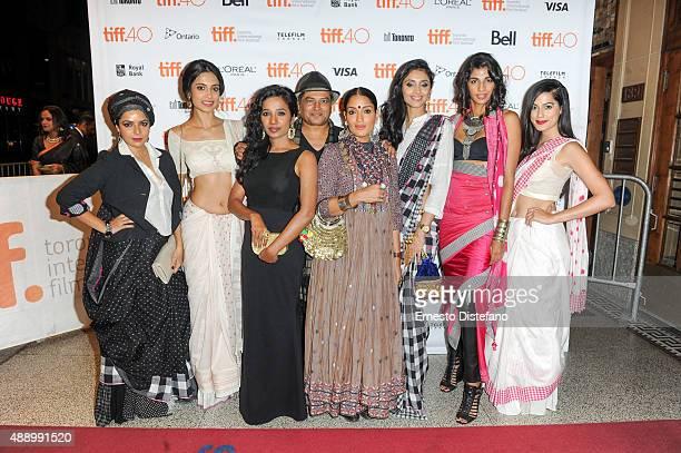 Cast attends premiere of 'Angry Indian Godesses' at the 2015 Toronto International Film Festival LR Rajshri Deshpande SarahJane Dias Tannishtha...
