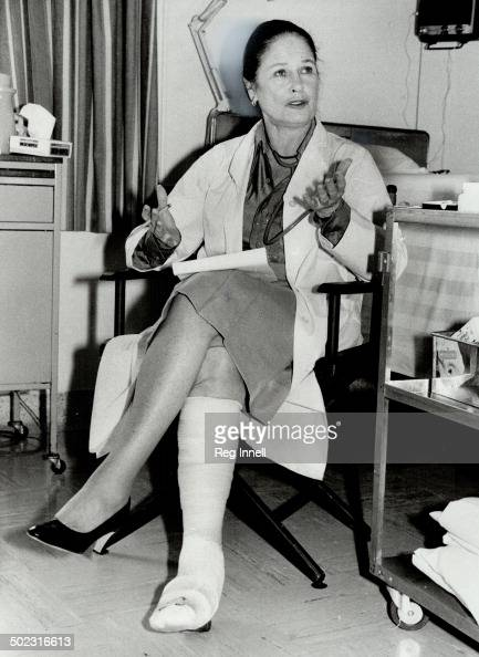 Cast change Actress Colleen Dewhurst broke her ankle but that hasn't stopped the filming of Tribute at Toronto General Hospital