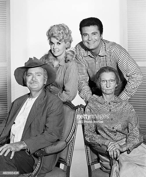 HILLBILLIES cast Clockwise from upper left Donna Douglas Max Baer Jr Irene Ryan Buddy Ebsen Image dated January 18 1966