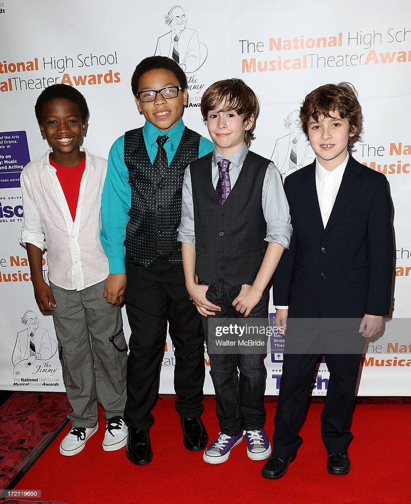 Cole Bullock, Marquise Neal, Sebastian Hedges, Jonah Halperin attend the 5th Annual National High School Musical Theater Awards at Minskoff Theatre on July 1, 2013 in New York City.