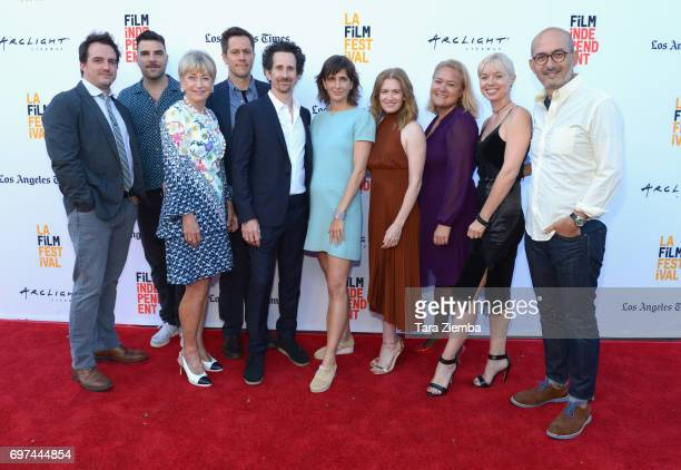 Cast crew attend the premieres of 'Never Here' and 'Laps' during 2017 Los Angeles Film Festival at Arclight Cinemas Culver City on June 18 2017 in...