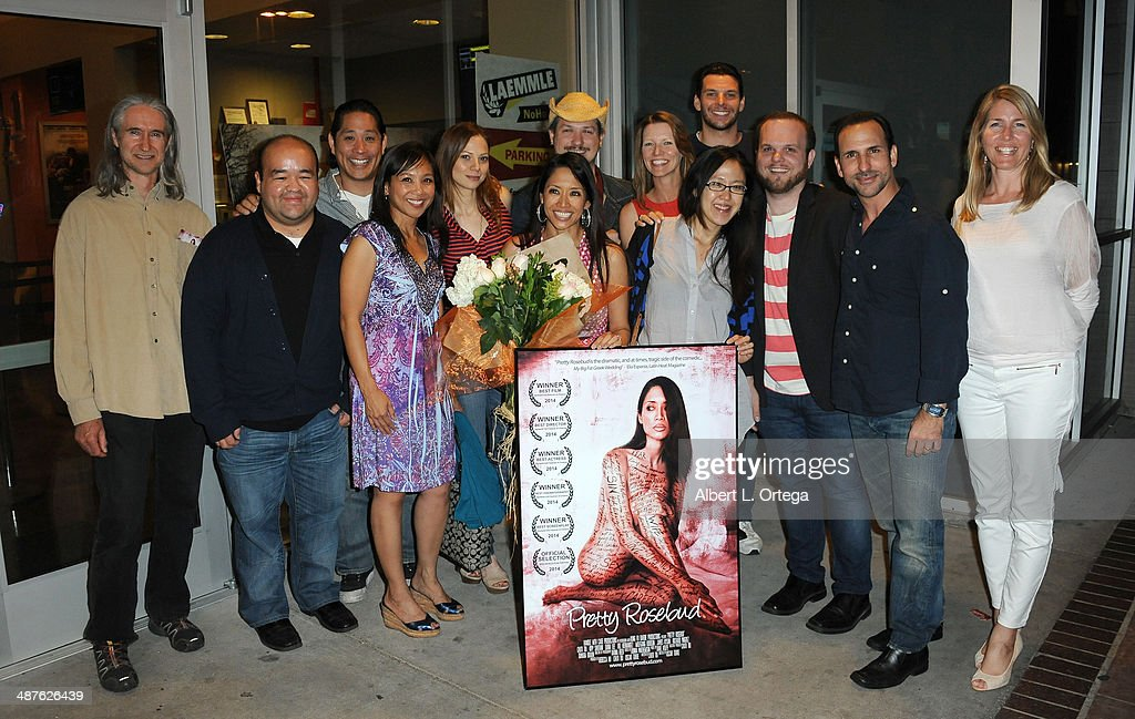 Cast & crew attend the Screening Of 'Pretty Rosebud' held at Laemmle NoHo 7 on April 30, 2014 in North Hollywood, California.
