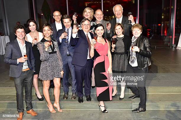 Cast crew executives gather to celebrate THE GOOD WIFEs critically acclaimed 7 season run with a finale party at the MOMA in New York City on April...
