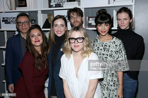 Cast Fred Armisen Angelique Cabral Hannah Simonem Brooklyn Decker Zoe ListerJones Majandra Delfino and Adam Pally attend the 2017 Sundance Film...