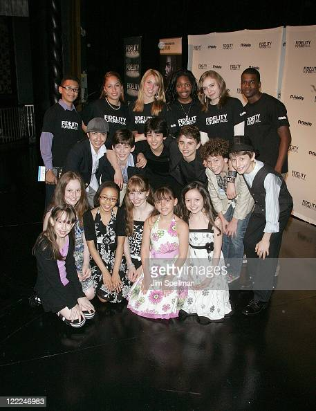 Cast from Billy Elliot and Futurestage students attend the 2010 Fidelity FutureStage Finale at the Imperial Theatre on June 14 2010 in New York City