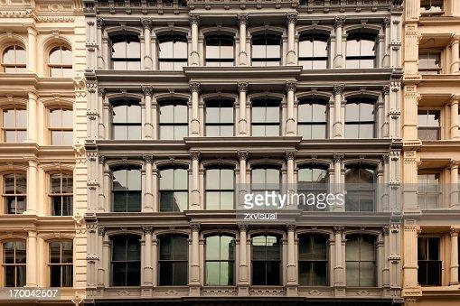 Cast Iron Buildings in Soho New York City