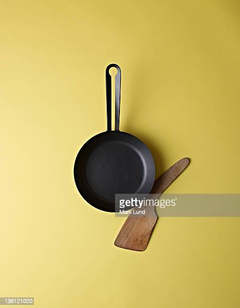 Cast Iron Skillet and Wood Spatula