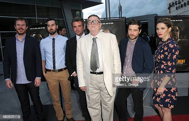 Cast Joe Swanberg Ti West AJ Bowen Gene Jones Kentucker Audley and Amy Seimetz arrive to the premiere of Worldview Entertainment and Arcade Pictures'...