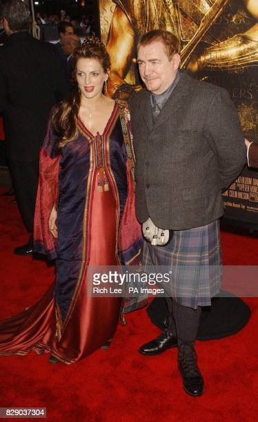 Cast member actor Brian Cox who plays Agamemnon arrives for the premiere of his latest film Troy held at the Ziegfield Theatre in New York City USA