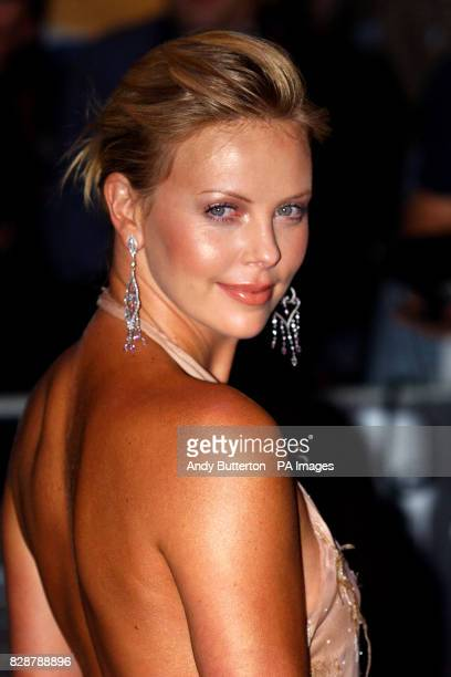 Cast member actress Charlize Theron arrives for the UK film premiere of The Italian Job at the Empire Leicester Square in London Charlize Theron who...