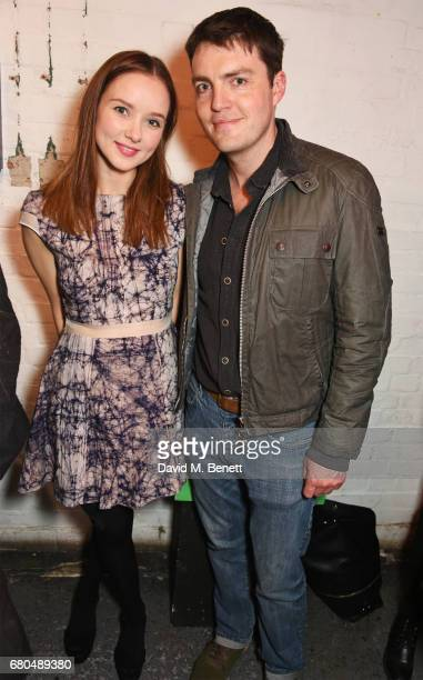 Cast member Alexandra Dowling and Tom Burke attend the press night after party for 'A Lie Of The Mind' at The Southwark Playhouse on May 8 2017 in...