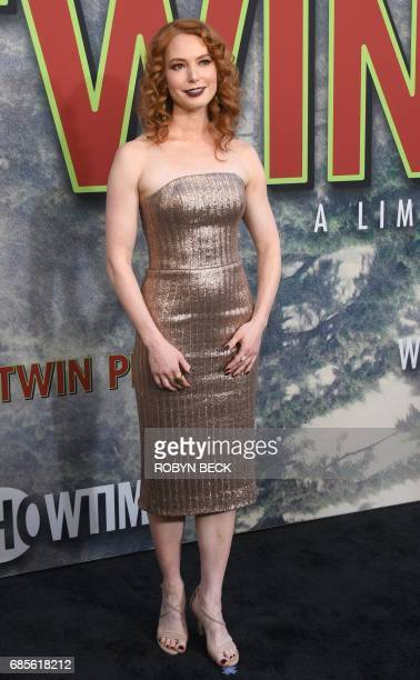 Cast member Alicia Witt attends the world premiere of the Showtime limitedevent series 'Twin Peaks' May 19 2017 at the Ace Hotel in Los Angeles...