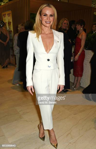 Cast member Amanda Holden attends the press night after party for 'Stepping Out' at the Coutts Bank on March 14 2017 in London England