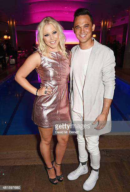 Cast member Amelia Lily and Gareth Gates attend an after party following the press night performance of 'American Idiot' at The Haymarket Hotel on...