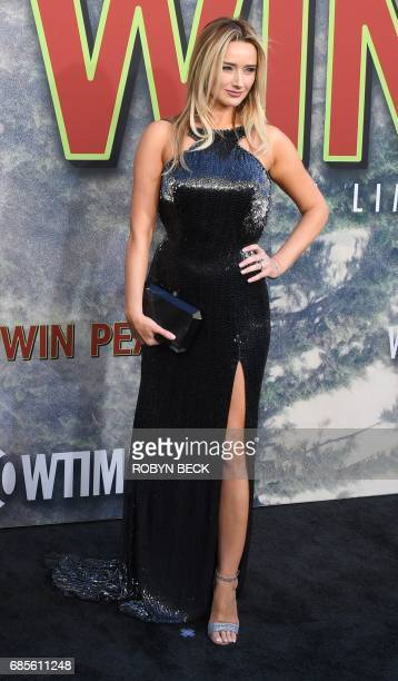 Cast member Amy Shiels attends the world premiere of the Showtime limitedevent series 'Twin Peaks' May 19 2017 at the Ace Hotel in Los Angeles...