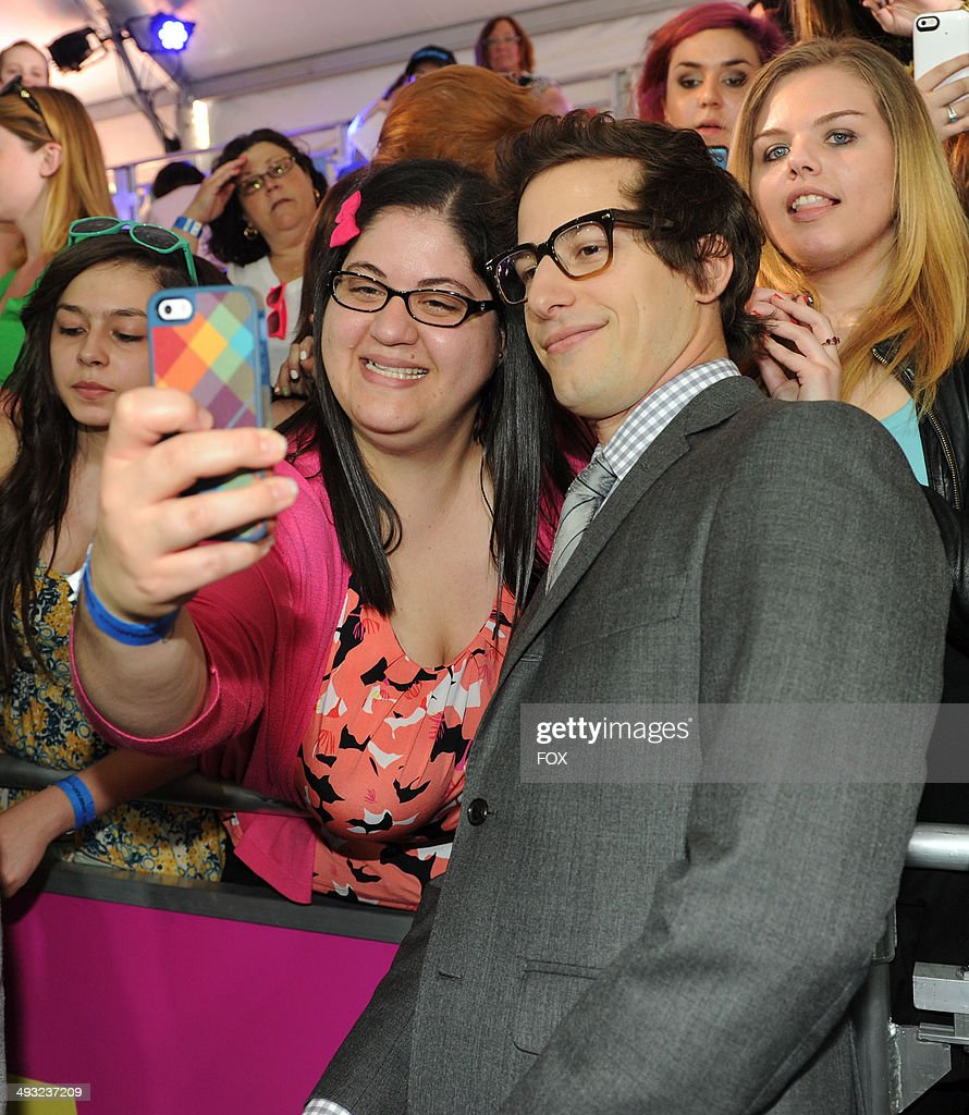 NINE cast member Andy Samberg during the FOX 2014 FANFRONT event at The Beacon Theatre in NY on Monday, May 12, 2014.