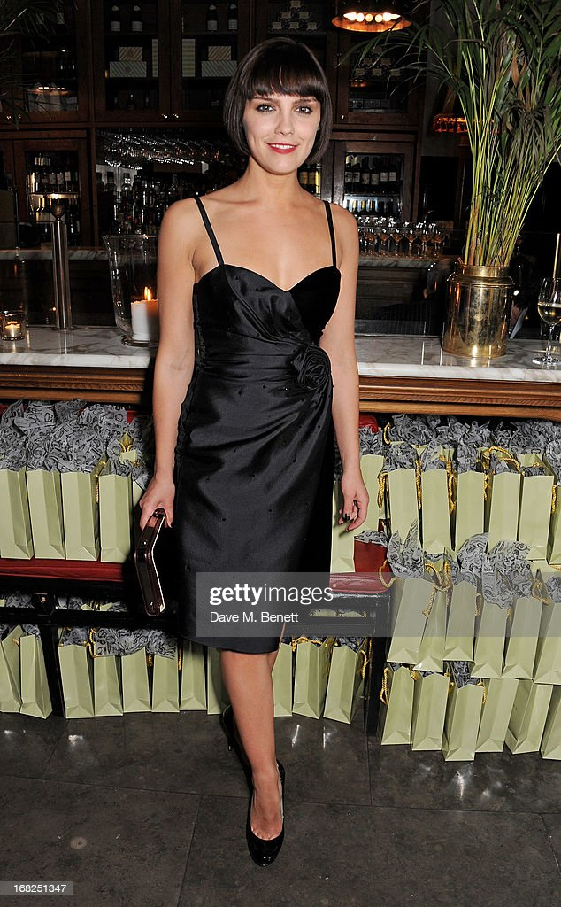 Cast member Annabel Scholey attends an after party following the press night performance of 'Passion Play' at The National Gallery on May 7, 2013 in London, England.