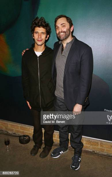 Cast member Ben Whishaw and playwright Christopher Shinn attend the press night after party for 'Against' at The Almeida Theatre on August 18 2017 in...