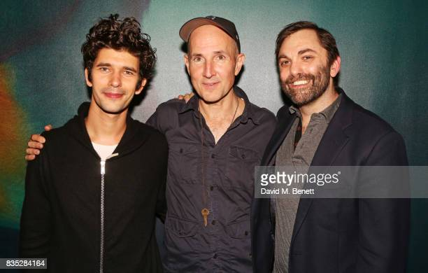 Cast member Ben Whishaw director Ian Rickson and playwright Christopher Shinn attend the press night after party for 'Against' at The Almeida Theatre...