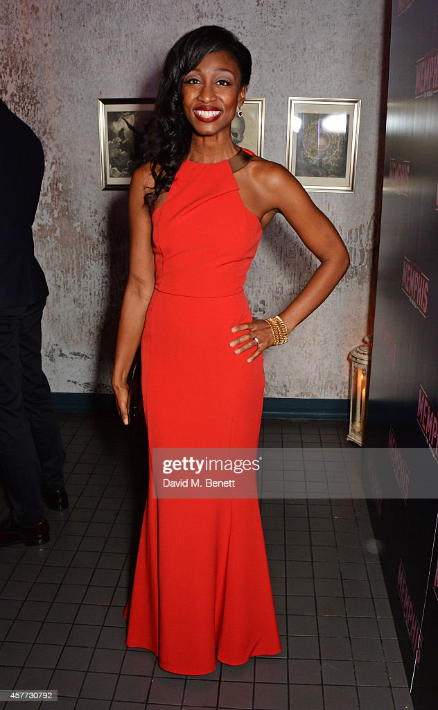 Cast member <a gi-track='captionPersonalityLinkClicked' href=/galleries/search?phrase=Beverley+Knight&family=editorial&specificpeople=204569 ng-click='$event.stopPropagation()'>Beverley Knight</a> attends the press night performance of 'Memphis The Musical' at The Floridita on October 23, 2014 in London, England.