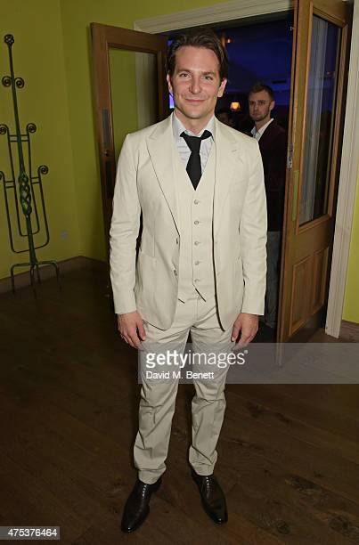 Cast member Bradley Cooper attends an after party celebrating the VIP Gala Preview of 'The Elephant Man' at The Haymarket Hotel on May 26 2015 in...