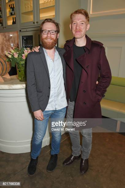 Cast member Brian Gleeson and brother Domhnall Gleeson attend the press night after party for 'Cat On A Hot Tin Roof' at The National Cafe on July 24...