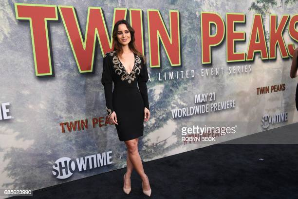 Cast member Bérénice Marlohe attends the world premiere of the Showtime limitedevent series 'Twin Peaks' May 19 2017 at the Ace Hotel in Los Angeles...