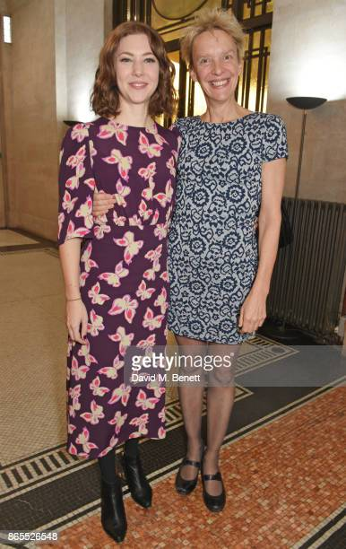 Cast member Catherine Steadman and director Lucy Bailey attend the press night after party for 'Witness For The Prosecution' at London County Hall on...