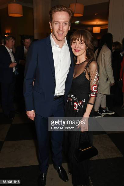 Cast member Damian Lewis and Helen McCrory attend the press night after party for Edward Albee's 'The Goat Or Who Is Sylvia' at Villandry on April 5...