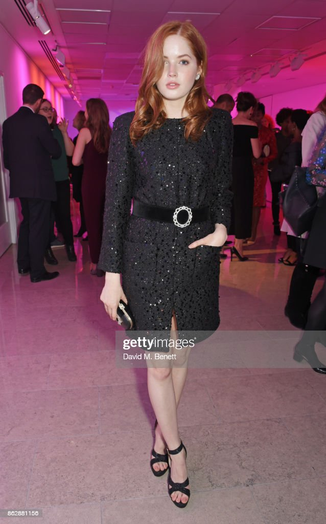 Cast member Ellie Bamber attends the press night after party for 'The Lady From The Sea' at The Hospital Club on October 18, 2017 in London, England.