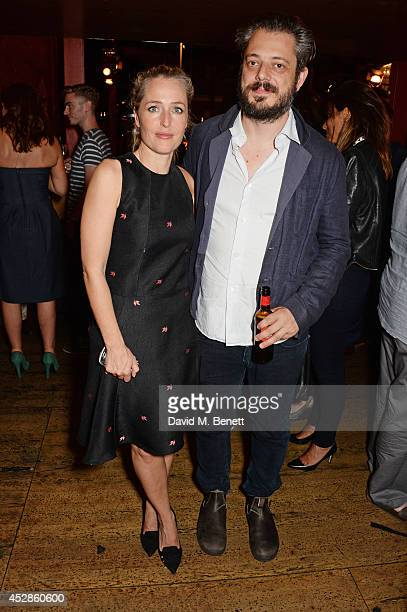Cast member Gillian Anderson and Benedict Andrews attend an after party following the press night performance of 'A Streetcar Named Desire' at The...