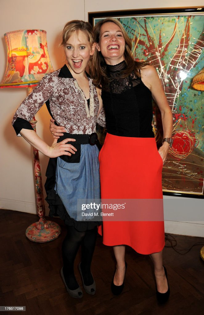 Cast member Hattie Morahan (L) and director Carrie Cracknell attend an after party following the press night performance of 'A Doll's House' at The Hospital Club on August 14, 2013 in London, England.