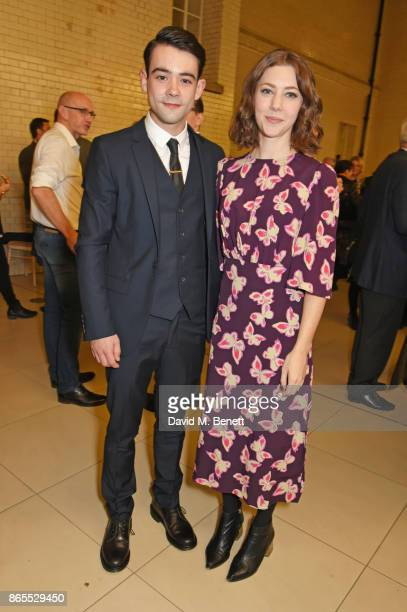 Cast member Jack McMullen and Catherine Steadman attend the press night after party for 'Witness For The Prosecution' at London County Hall on...