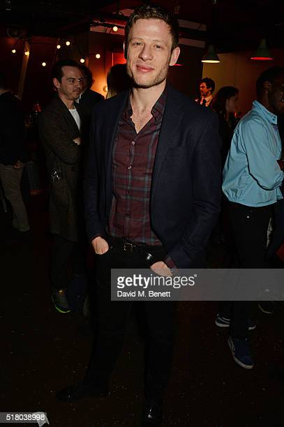 Cast member James Norton attends the press night performance of 'Bug' at Found111 on March 29 2016 in London England