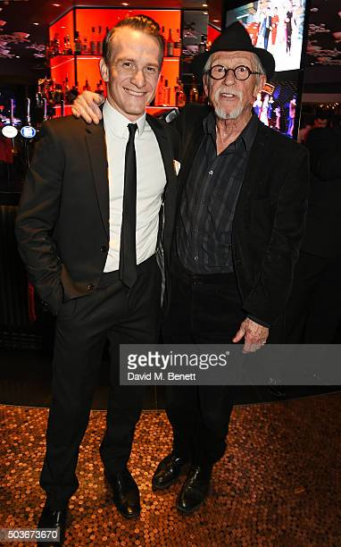 Cast member Jamie Parker and Sir John Hurt attend the press night after party for 'Guys And Dolls' at The Hippodrome Casino on January 6 2016 in...