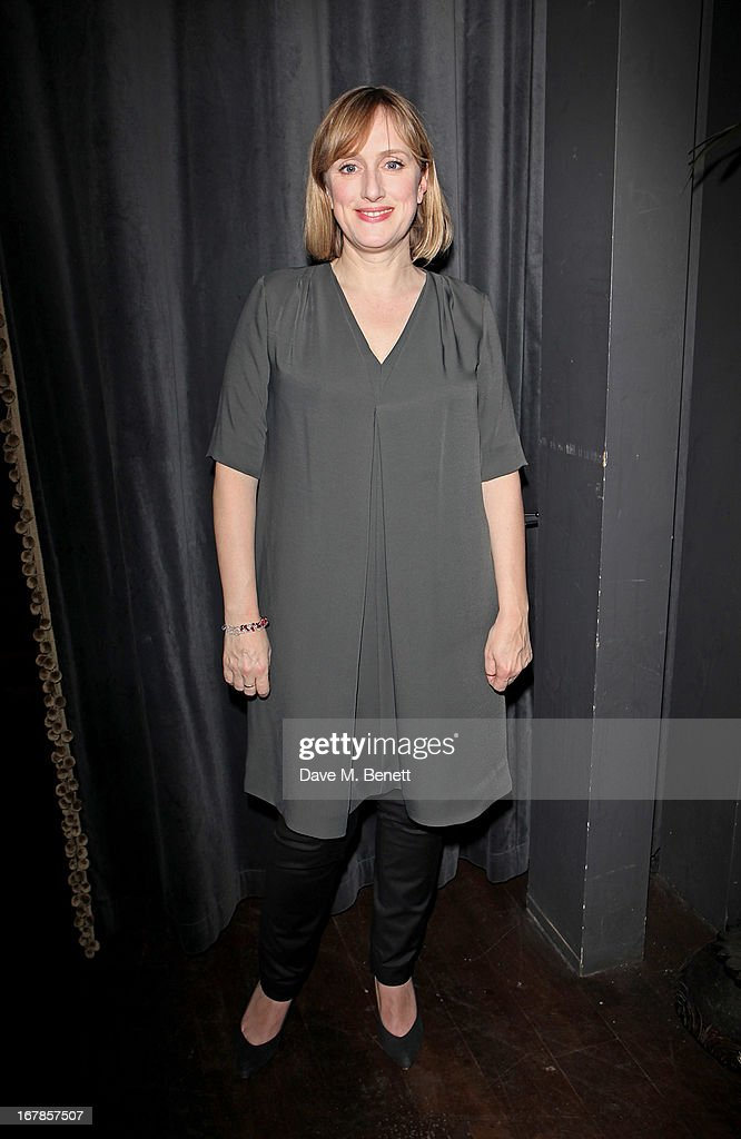 Cast member Jenna Russell attend an after party celebrating the press night performance of the Menier Chocolate Factory's 'Merrily We Roll Along', following its transfer to the Harold Pinter Theatre, at Grace Restaurant on May 1, 2013 in London, England.