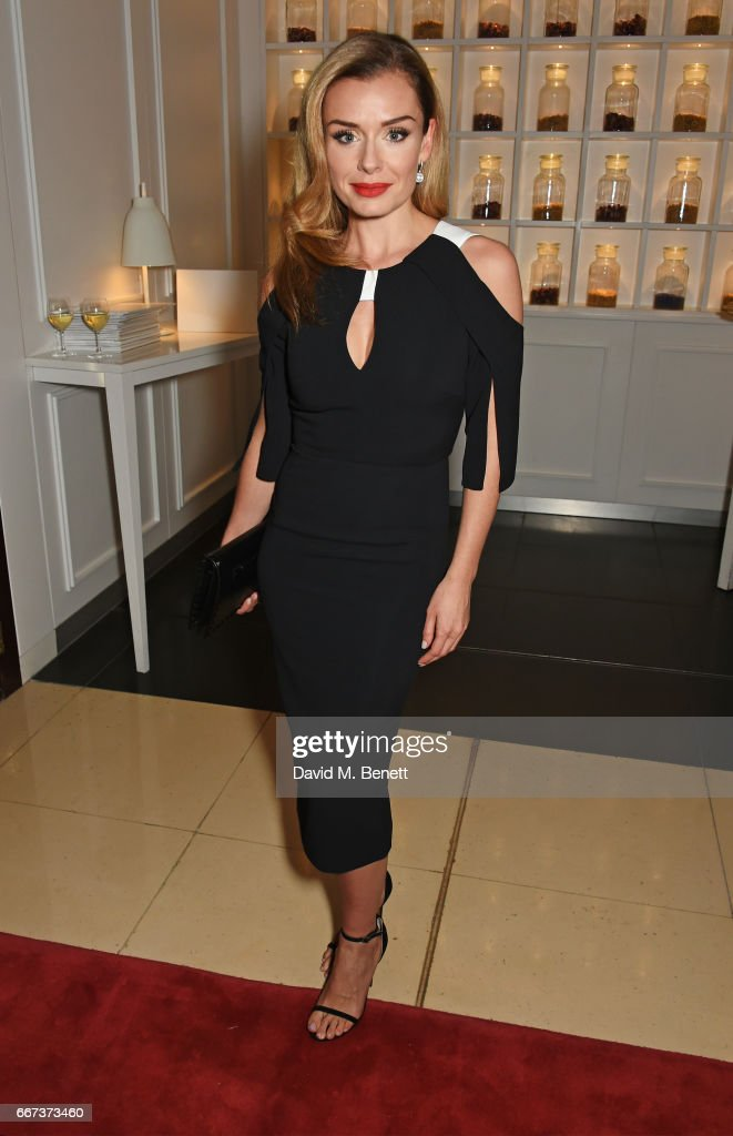 Cast member Katherine Jenkins attends the press night after party for the English National Opera's production of Rodgers & Hammerstein's 'Carousel' at St Martins Lane on April 11, 2017 in London, England.