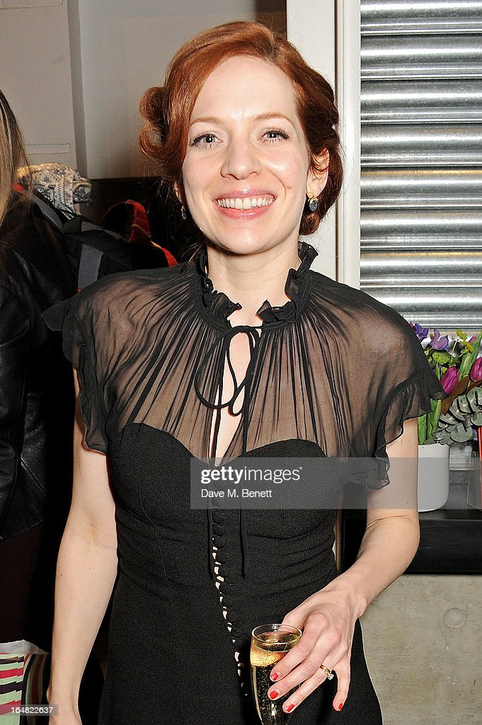 Cast member Katherine Parkinson attends an after party following the press night performance of 'Before The Party' at the Almeida Theatre on March 28, 2013 in London, England.