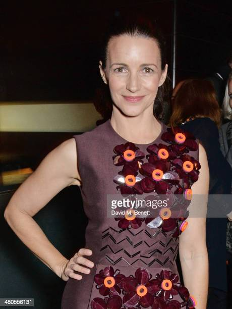 Cast member Kristin Davis attends an after party celebrating the press night performance of 'Fatal Attraction' at Mint Leaf Restaurant on March 25...