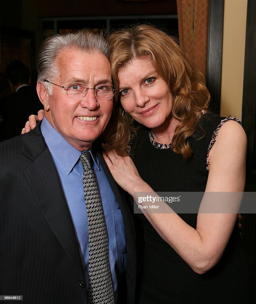 opening night of cast member martin sheen poses actress rene russo at the opening night party for