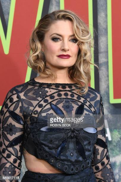 Cast member Mädchen Amick attends the world premiere of the Showtime limitedevent series 'Twin Peaks' May 19 2017 at the Ace Hotel in Los Angeles...