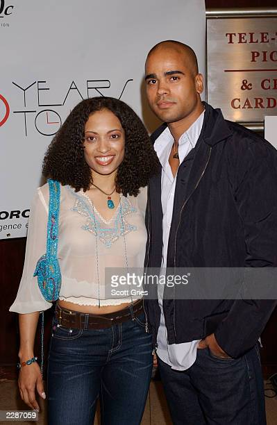Cast member Melissa De Sousa and her boyfriend Nicholas arrive at the premiere of '30 Years To Life' at the Beekman Theater in New York City 3/27/02...