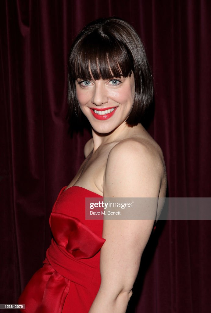 Cast member Michelle Ryan attends an after party following the press night performance of 'Cabaret' at Cafe de Paris on October 9, 2012 in London, England.