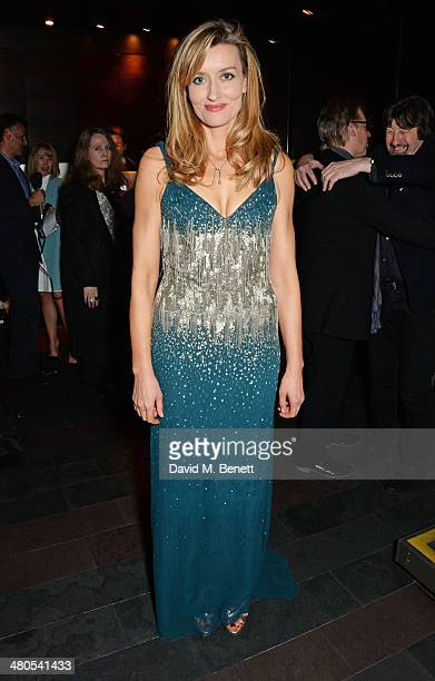 Cast member Natascha McElhone attends an after party celebrating the press night performance of 'Fatal Attraction' at Mint Leaf Restaurant on March...