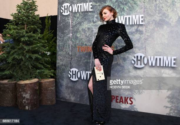 Cast member Nicole LaLiberte attends the world premiere of the Showtime limitedevent series 'Twin Peaks' May 19 2017 at the Ace Hotel in Los Angeles...