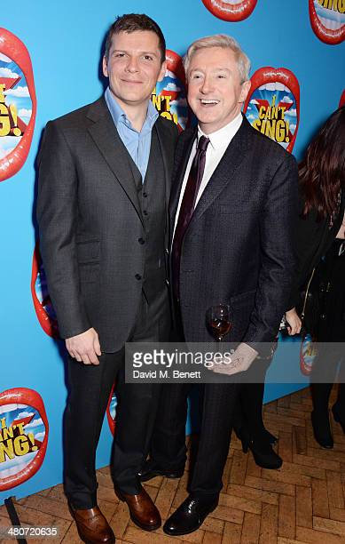 Cast member Nigel Harman and Louis Walsh attend the after party following the press night performance of 'I Can't Sing The X Factor Musical' at One...