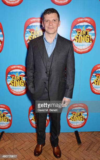 Cast member Nigel Harman attends the after party following the press night performance of 'I Can't Sing The X Factor Musical' at One Marylebone on...